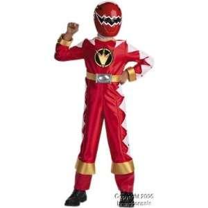 Childs Red Power Ranger Costume (SizeLarge 7 10) Toys