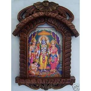 Sita, Ram & Hanuman, Ram Darbar, Painting in Traditional