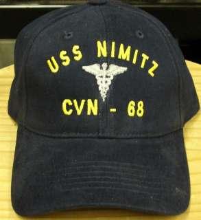 USS KITTY HAWK JOB RATE INSIGNIA EMB CAP HAT