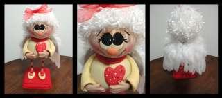 Handpainted Valentine Cupid Angel Doll Gourd ~