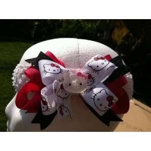 Hot Pink, Hello Kitty Print Hair Bow Beauty