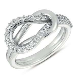 White Gold Love Knot Ring Jewelry