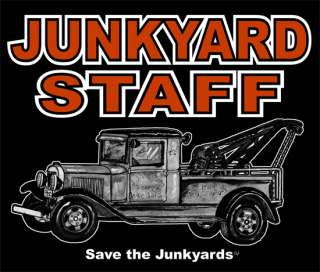 JUNKYARD PICKUP TEE FLATHEAD ENGINE TOW HOT STREET ROD