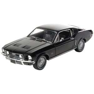 GreenLight 118 1968 Ford Mustang GT Fastback (Black) Toys & Games