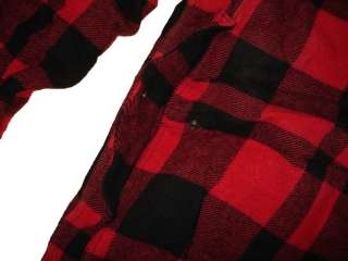 RRL Ralph Lauren Polo Red Plaid Flannel Jacket Coat M Wool