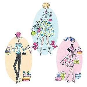 Wallies 12216 Shopping Girls Wallpaper Cutout: Home Improvement