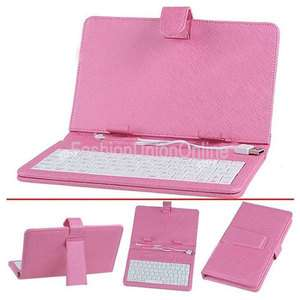 pink leather keyboard case cover for 7 ePad aPad tablet