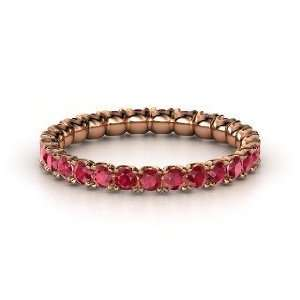 Brilliant Pod Band, 14K Rose Gold Ring with Ruby Jewelry