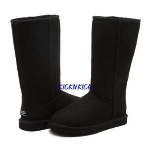 UGG Classic Tall Black Women Boots Australia 5815 Sz 6, 7, 8, 9