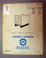 Miller Owners Manual Arc Welder: