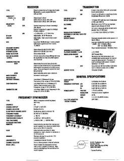 ARF 2001, SCANNING TRANSCEIVER CB BASE STATION