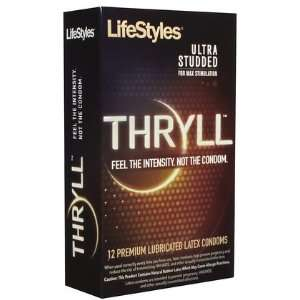 Lifestyles Thryll Studded Condoms 12 ct (Quantity of 3