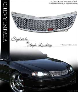 00 05 CHEVY IMPALA CHROME ABS FRONT BUMPER GRILLE GRILL