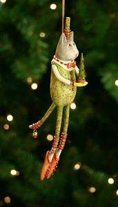 PATIENCE BREWSTER KRINKLES ARTHUR GREEN CAT CHRISTMAS ORNAMENT