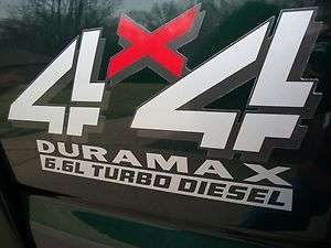 6L DURAMAX TURBO DIESEL Bed Decals Stickers Chevy Silverado GMC 2500