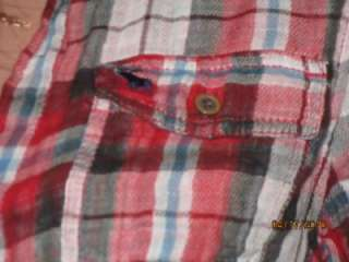 Brand New Abercrombie & Fitch ASHLEY Red Plaid Shirt. 100% Cotton