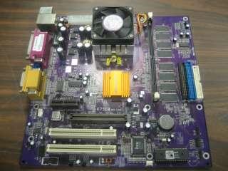 ECS EliteGroup K7SEM Rev 3 Socket 462 Motherboard w CPU   PCI/VGA/USB