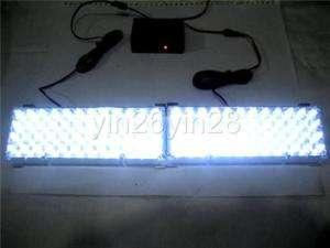 2x 48 LED W/W Car Truck Grille Strobe Light Set A157