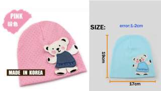 Cute Bear Baby Cap Crochet Point Cotton Beanie Beret Hat #AT8