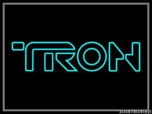 Tron Legacy 2010 Logo Decal Sticker (2x)