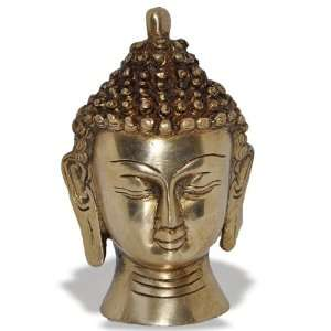 Buddha Head Brass Statue Sculpture Home & Kitchen