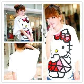 Hello Kitty Super Cute Bat Tank Tops Cloak T Shirt