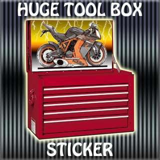 TOOLBOX TOP BOX STICKER KTM RC8 RACE & ROAD BIKE MOTORCYCLE