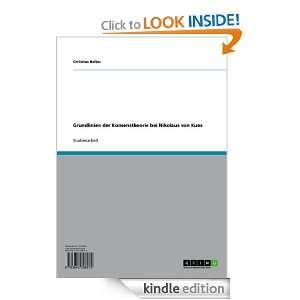 Grundlinien der Konsenstheorie bei Nikolaus von Kues (German Edition