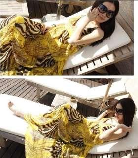 New Sexy Ladies Womens BOHO Exotic Summer Beach Chiffon Long Maxi