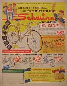 Flying Star~Traveler~Racer~Continental Bicycles Boys Bike Promo AD