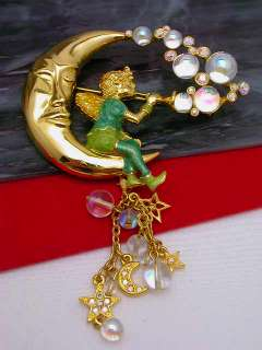 Kirks Folly Pipedream Fairy AB Glass Bubble & Rhinestone Brooch