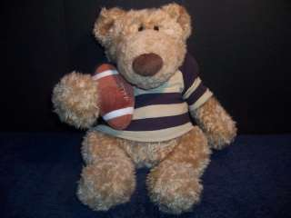 Gund Plush Pottery Barn Kids Clancy Football Teddy Bear