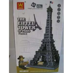 EIFFEL TOWER, PARIS   **HUGE** BUILDING BLOCK SET: Toys & Games