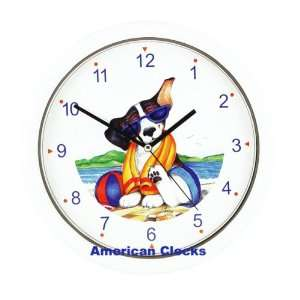 Cute Puppy Dog on Beach Wall Clock Exclusive NOT sold