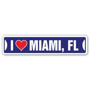 I LOVE MIAMI Street Sign south beach florida nitelife