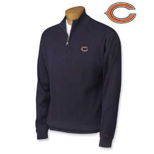 Chicago Bears Milano Rib Half Zip Sweater Sports