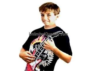 WEAR N PLAY~ Electric Guitar T shirt w built in Amplifier Pickup