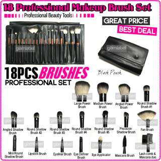 PRO 18 PCS MAKEUP COSMETIC BRUSH SET KIT CASE BAG B04 4