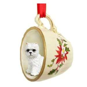 Westie West Highland Terrier Dog in Tea Cup Holiday Christmas Ornament