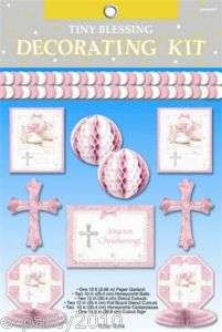 TINY BLESSING GIRL BABY SHOWER Party ~ DECORATING KIT 048419740605