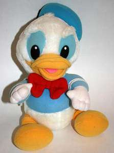 Baby Donald Duck 14 Plush 1984 Disney Hasbro Softies