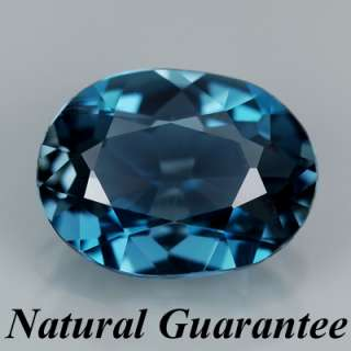VVS Natural Gem 1.81ct Oval AAA London Blue Topaz, BRAZIL