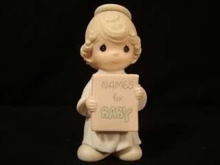 na Precious Moments Large Nativity Addtn Angel/Baby Names