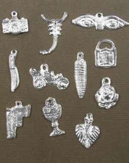 50 MEXICAN FOLK ART DAY OF THE DEAD SILVER MILAGROS n4