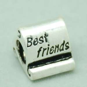 SCROLL BANNER Charm BEST FRIENDS, GOOD LUCK, FOREVER TOGETHER