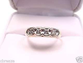 NATURAL DIAMONDS 14K YELLOW & WHITE GOLD VINTAGE BAND