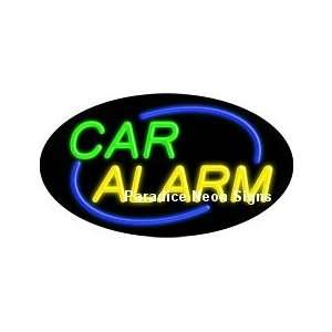 Flashing Car Alarm Neon Sign (Oval) Sports & Outdoors