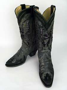 Corral Boots Ladies Black Sequence Eagle Cowboy Boots