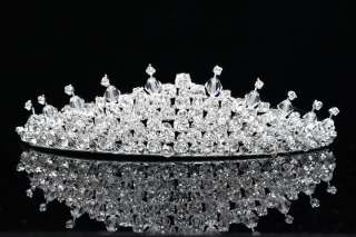 Prom Bridal Wedding Veil Crystal Princess Tiara 5734