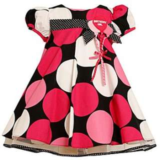 Bonnie Jean Toddler Girls Polka Dot Short Sleeve Birthday Party Dress